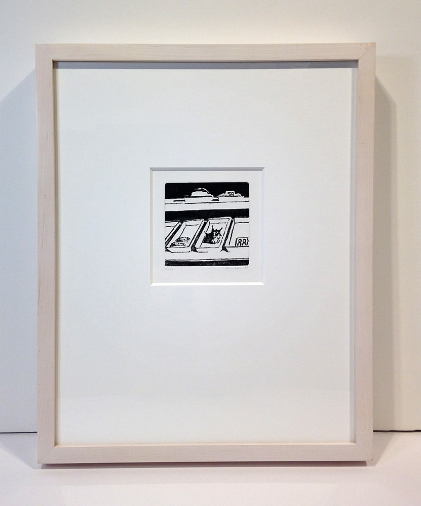Framed Black and White Wayne Thiebaud Print of Delicatessen