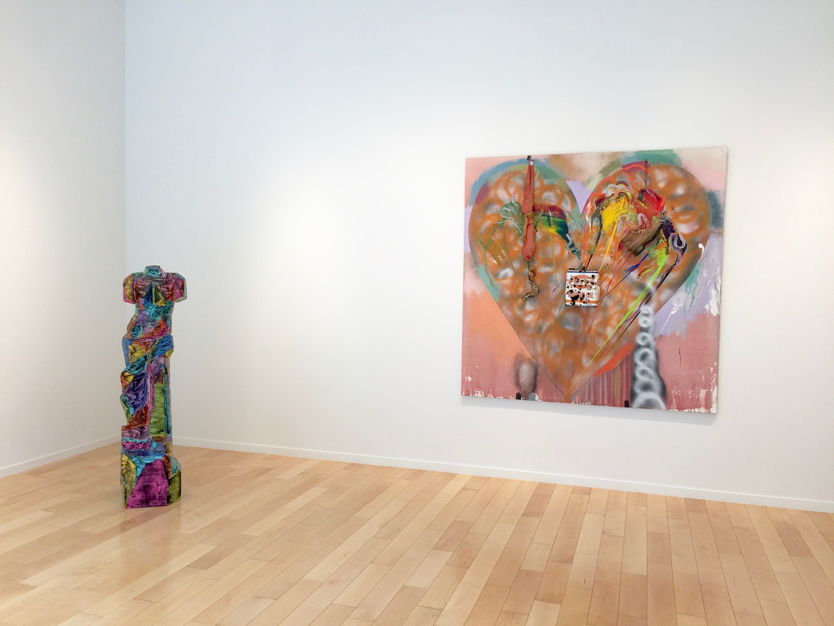 Jim Dine Heart Painting and Venus Sculpture