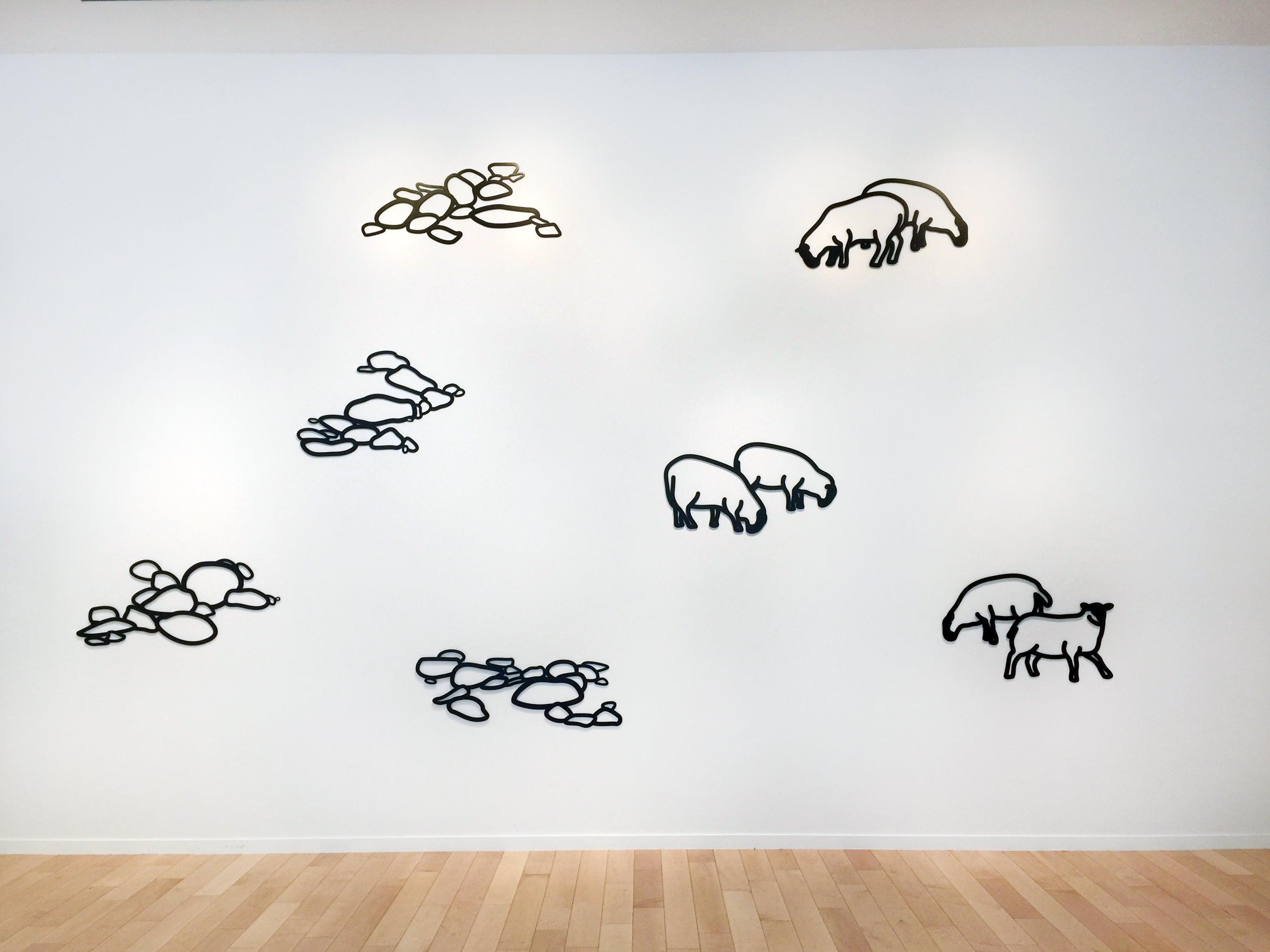 Julian Opie Sculptures Pebbles Sheep