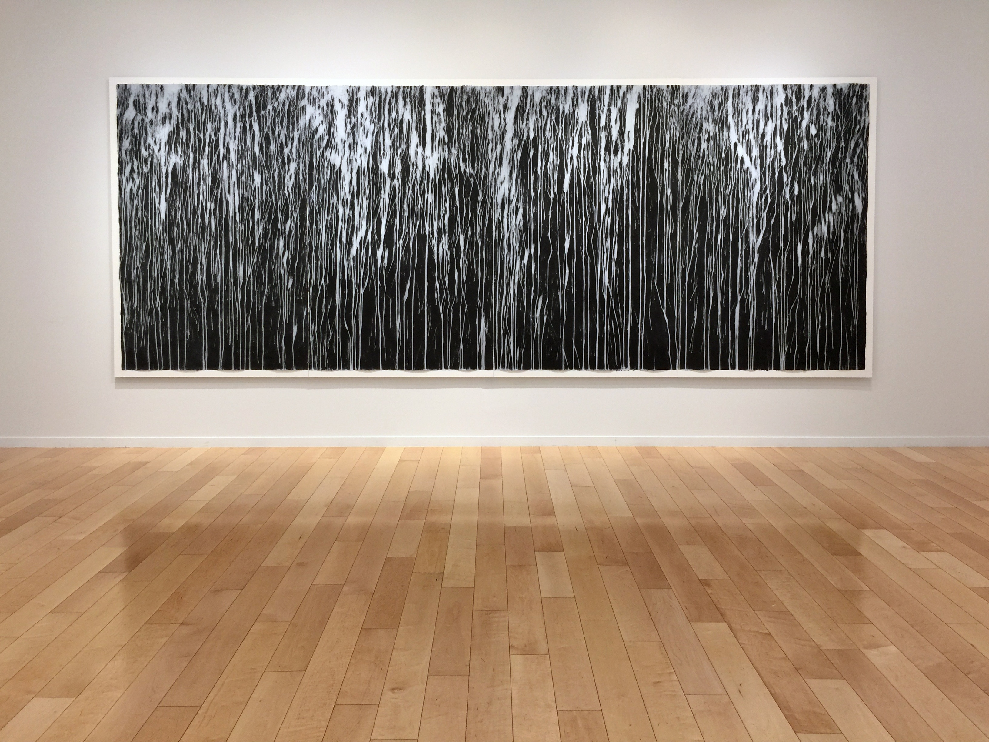 Richard Long Print Black and White Abstraction