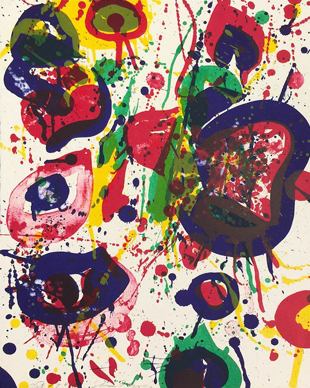 explore artists and artwork - sam francis pictured