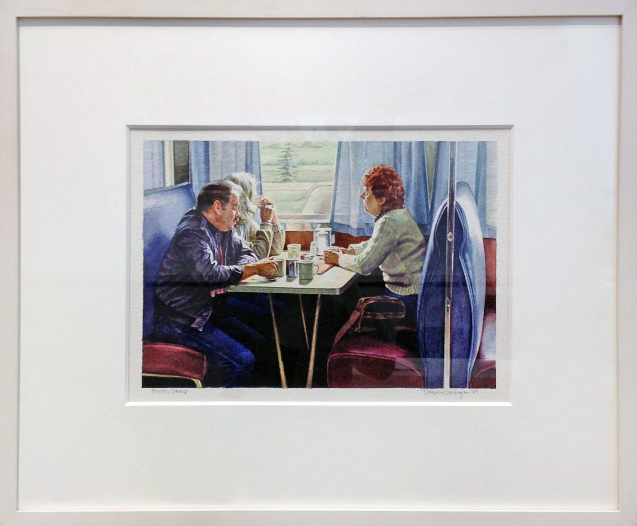 Ralph Goings - Booth Group (Framed)