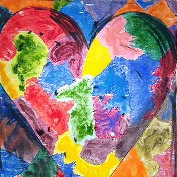 Jim Dine Heart Rainbow Colors