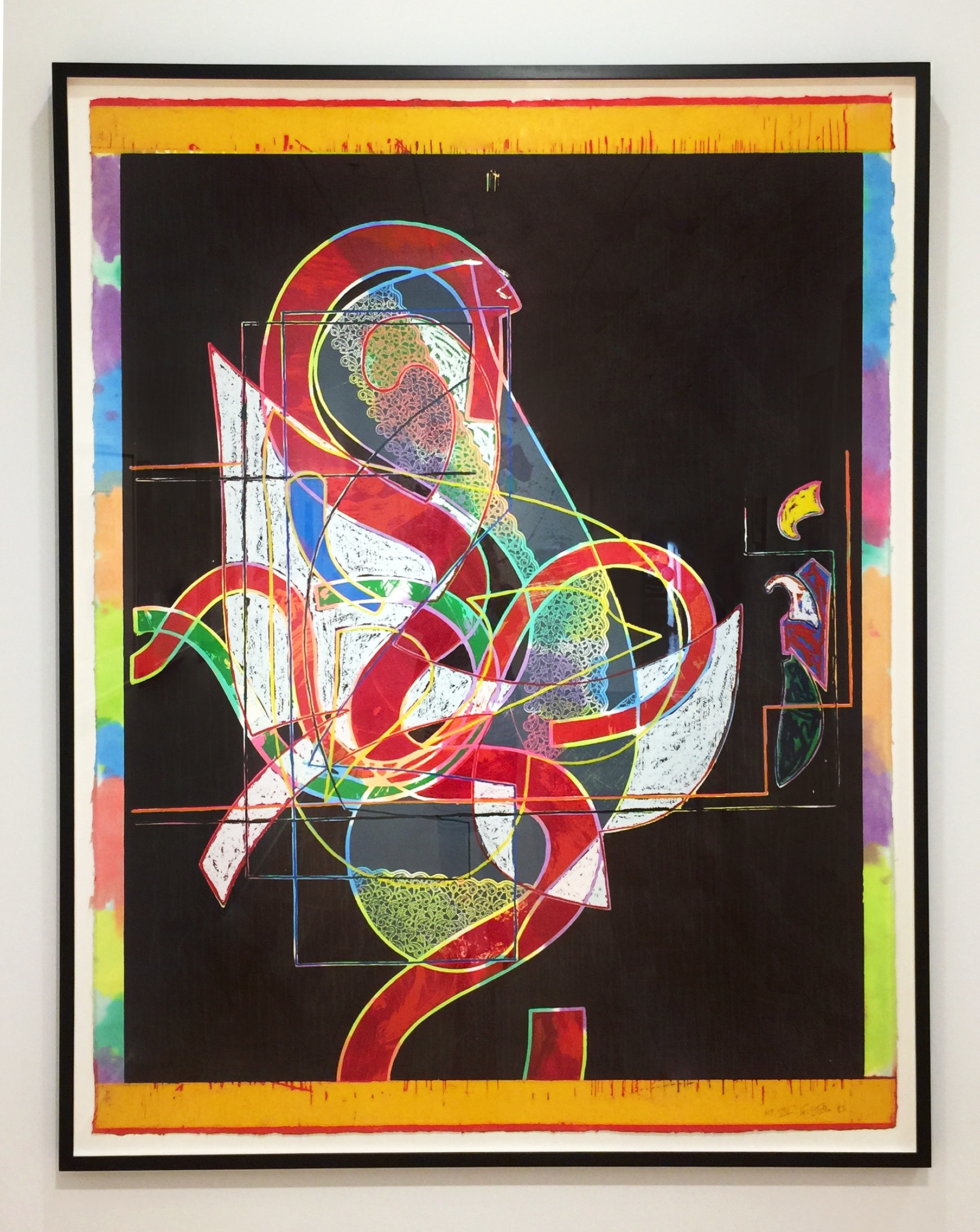 Frank Stella - Pergusa Three (Framed)