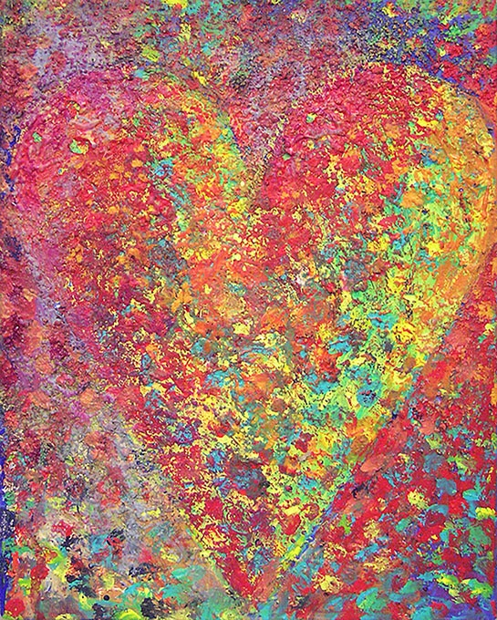 explore artists and artwork - jim dine hearts pictured