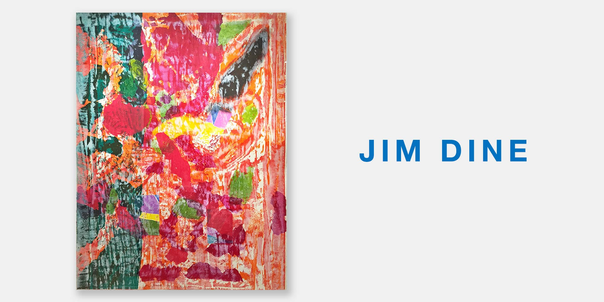Art Palm Springs Slide with Jim Dine Print Abstract