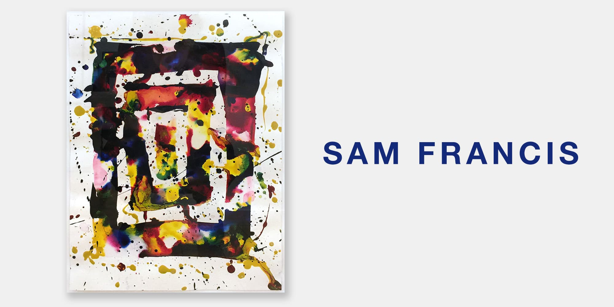 Art Palm Springs Slide with Sam Francis Painting