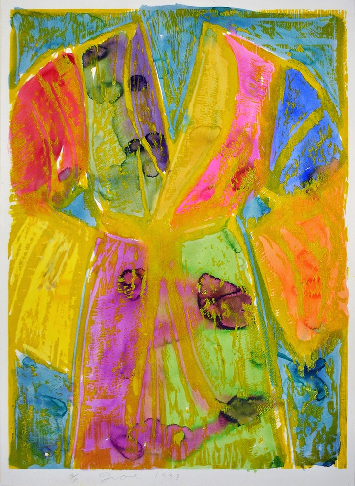 Jim Dine Robe Yellow Watercolors