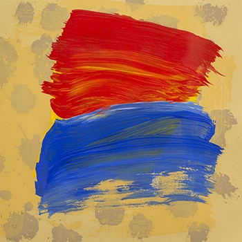 Howard Hodgkin Abstract Print Blue Red Thumbnail