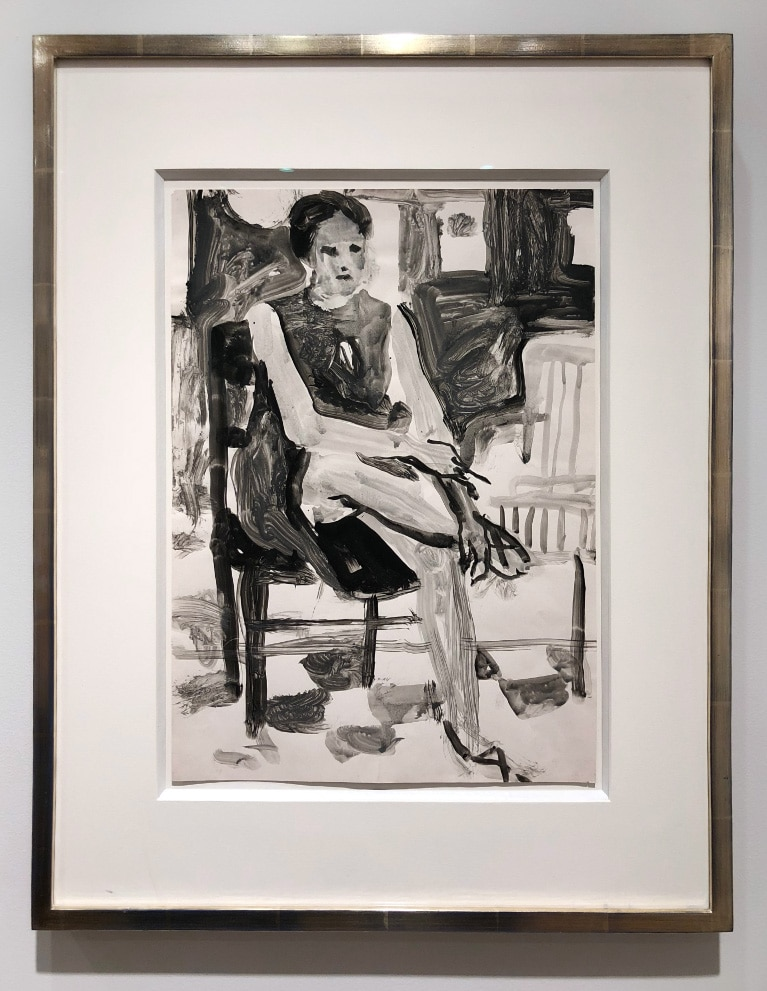 Richard Diebenkorn Figure Painting of Woman Black and White