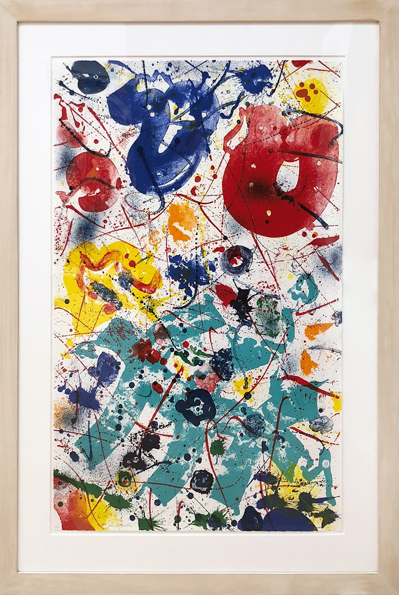 Sam Francis Lithograph SF-358 Splattered Colors