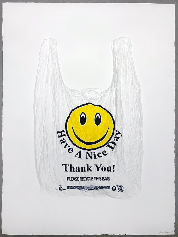 Analia Saban Smiley Face Plastic Bag