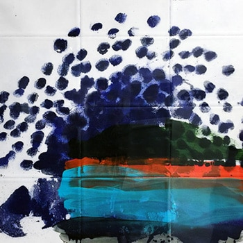 howard hodgkin hand painted print