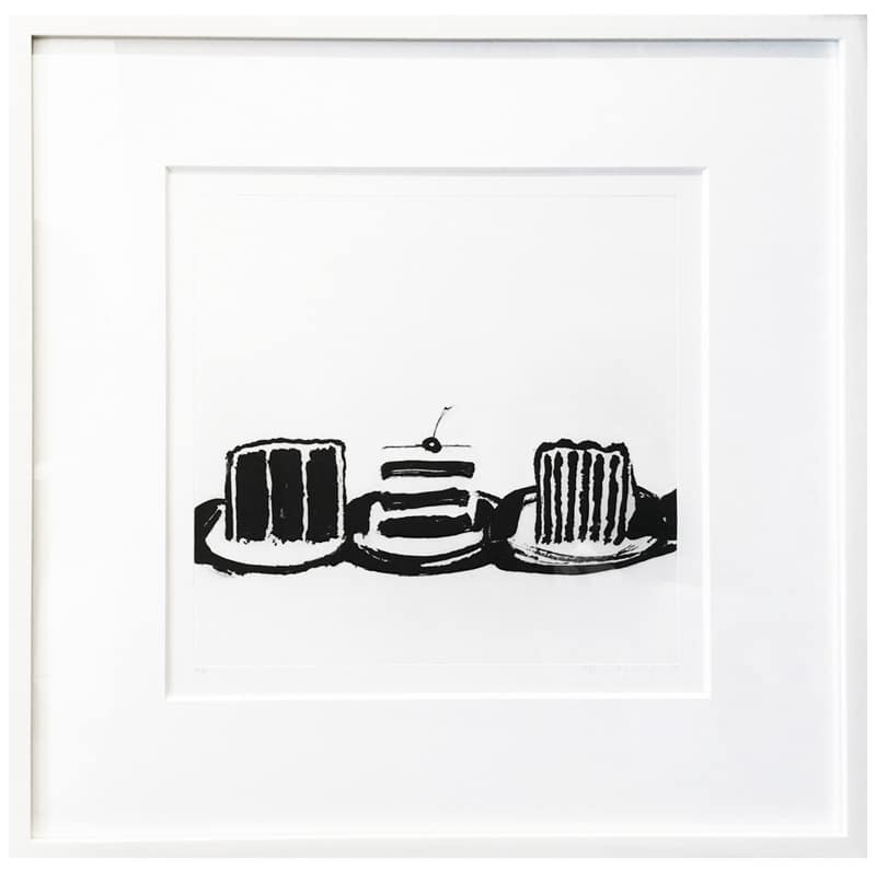 Wayne Thiebaud Print of Three Cakes