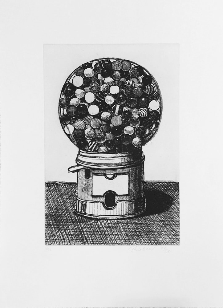 Wayne Thiebaud Dark Gumball Machine
