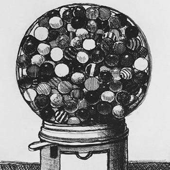 Wayne Thiebaud - Dark Gumball Machine - Print