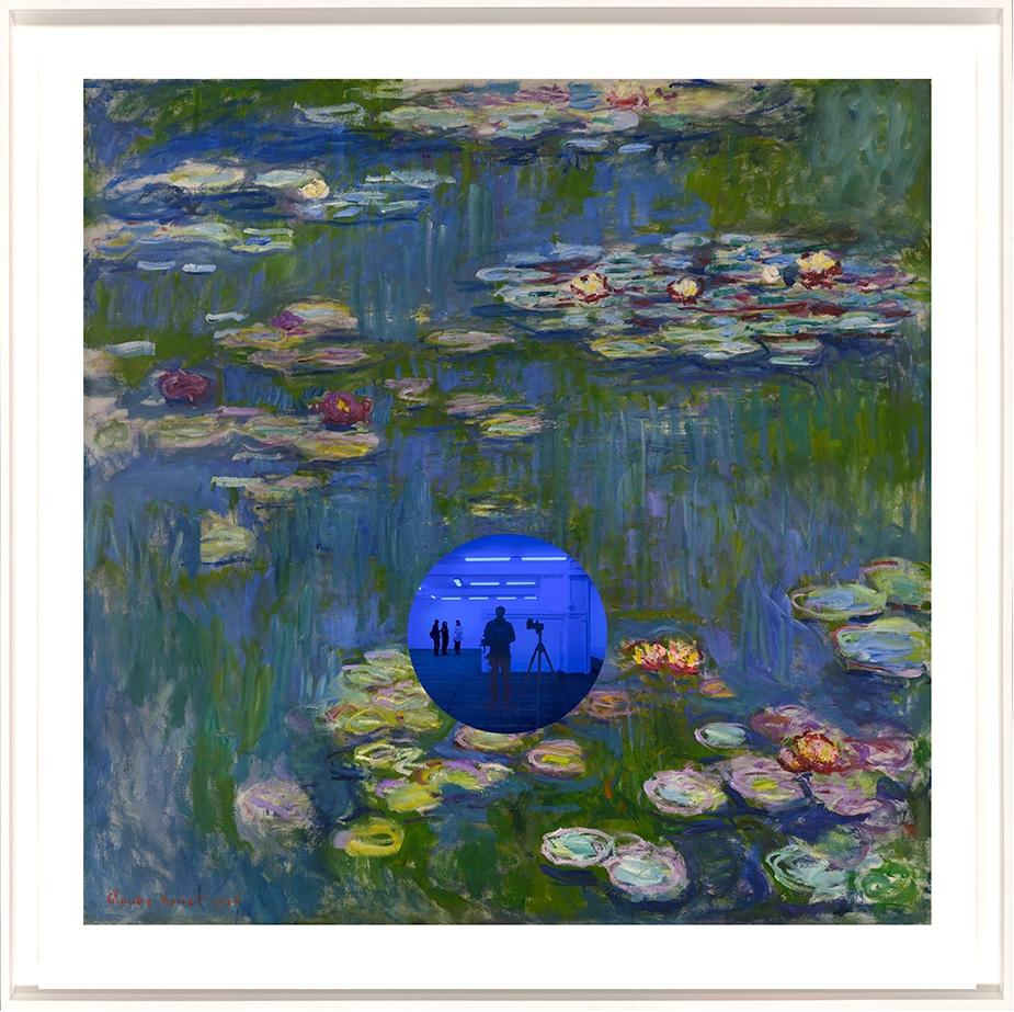 Jeff Koons Claude Monet Print with Reflective Sphere