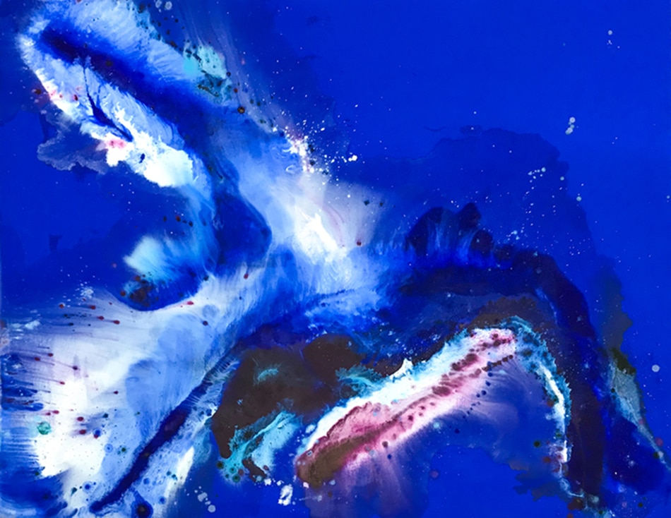 Augustus Francis Blue Abstract Painting