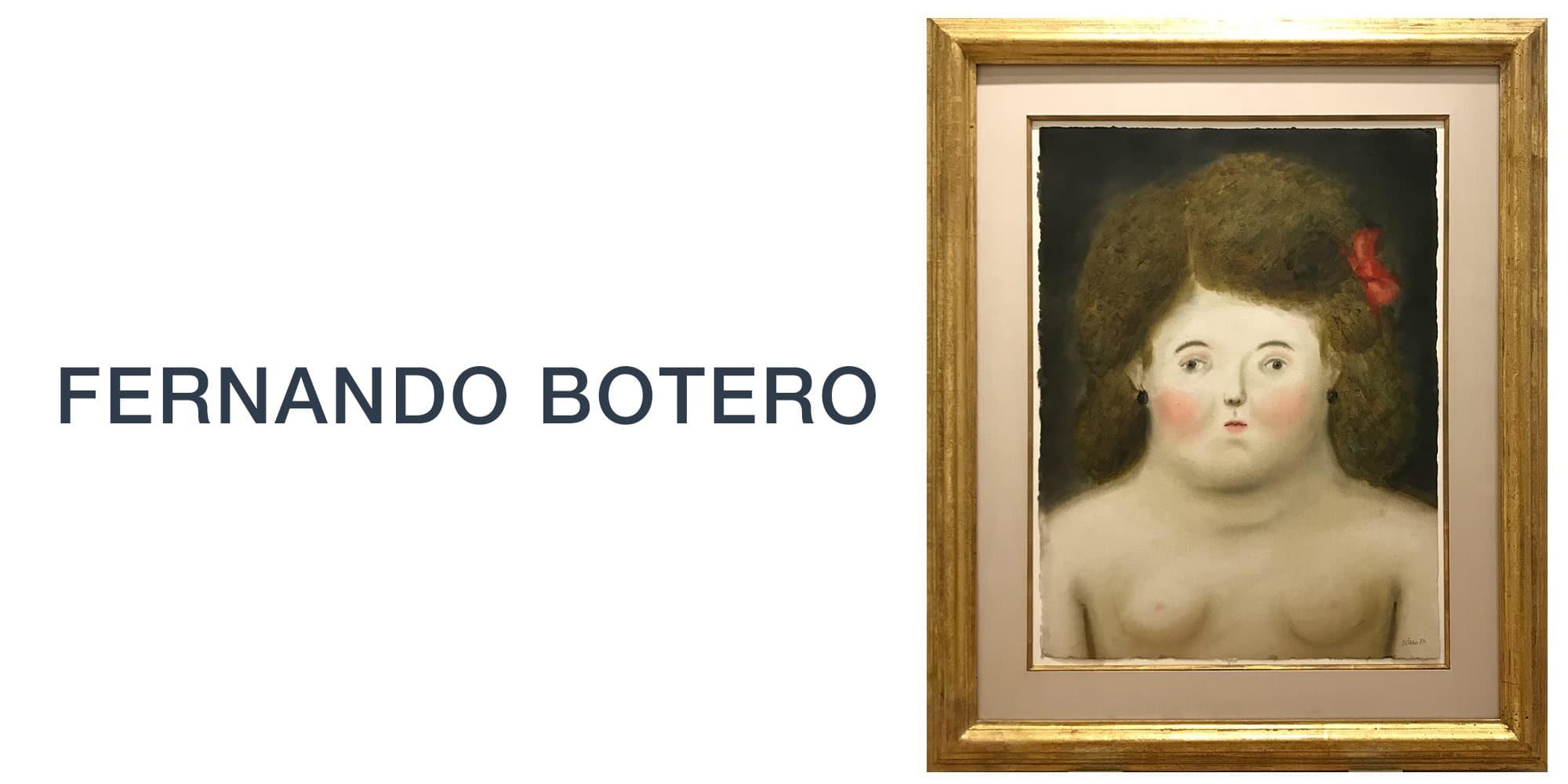 Fernando Botero Slide for Art Miami with Portrait