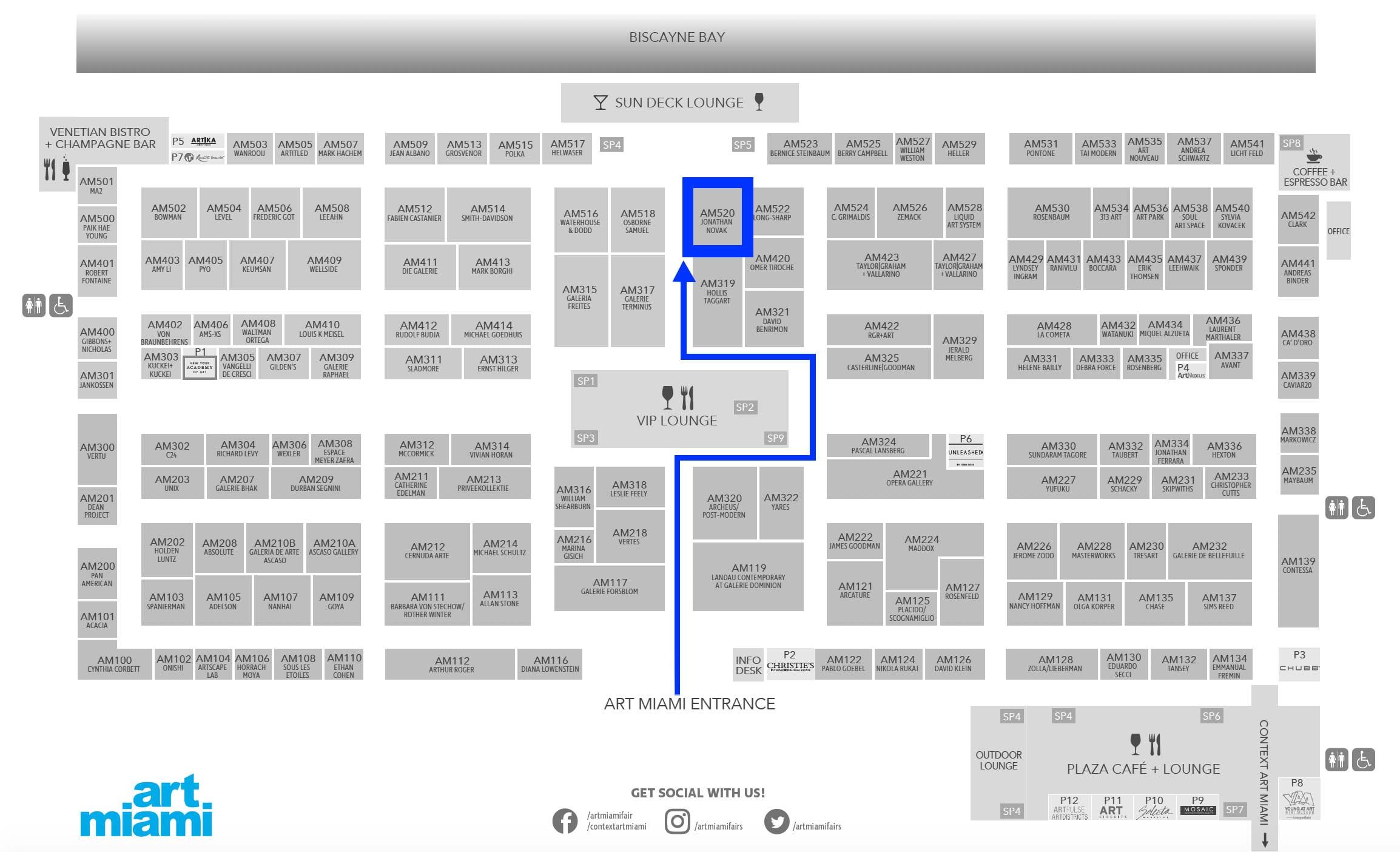 Art Miami 2019 Floor Plan Booth AM520