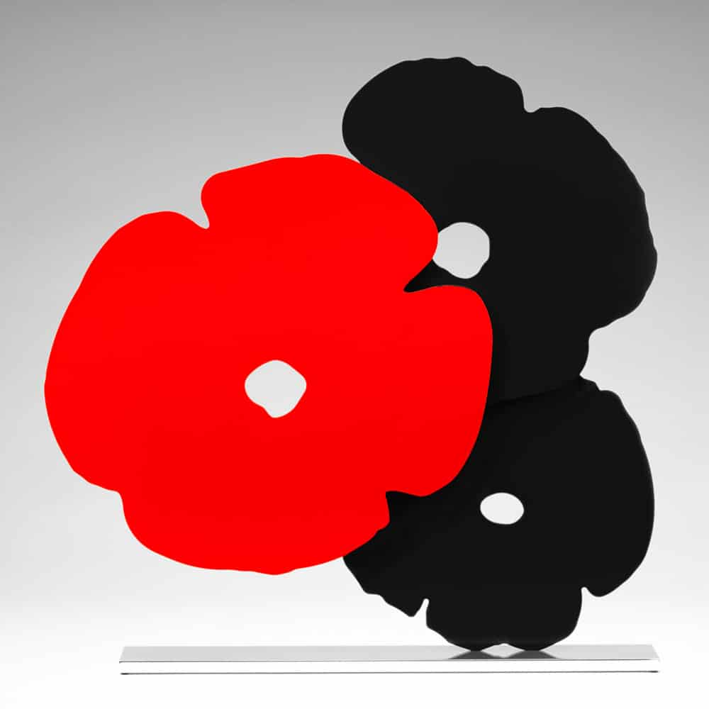 Donald Sultan - Black and Red Poppies