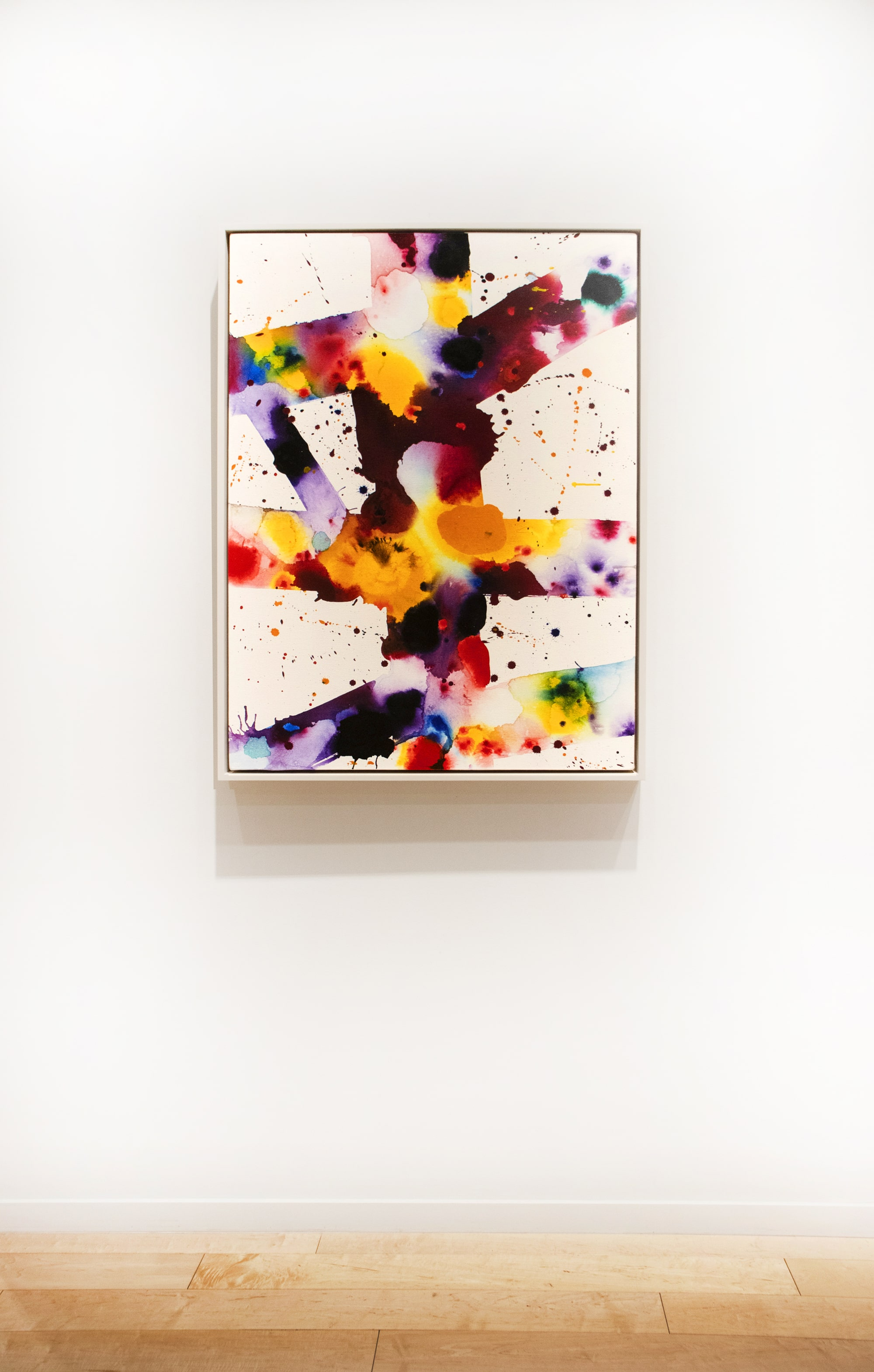 A work by Sam Francis from 1973. Acrylic and oil on canvas.