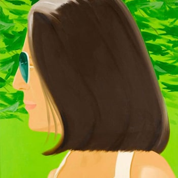 Alex Katz Ada in Spain Portrait Green