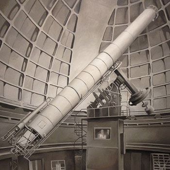 Chris Pfister Hyperreal Painting Telescope Black White Thumbnail