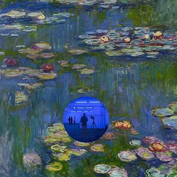 Jeff Koons Gazing Ball Monet Lily Pads