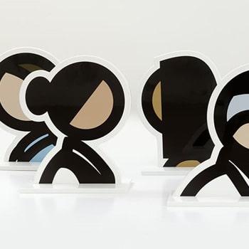 Julian Opie Heads Statues Thumbnail