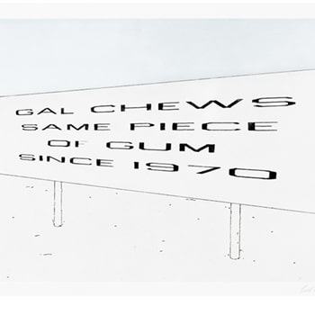 Thumbnail of Lonely Highway by Ed Ruscha