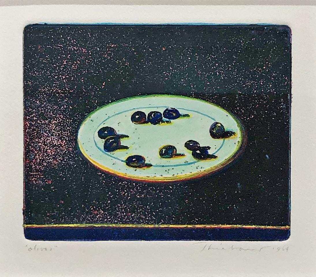 Wayne Thiebaud original work of Olives