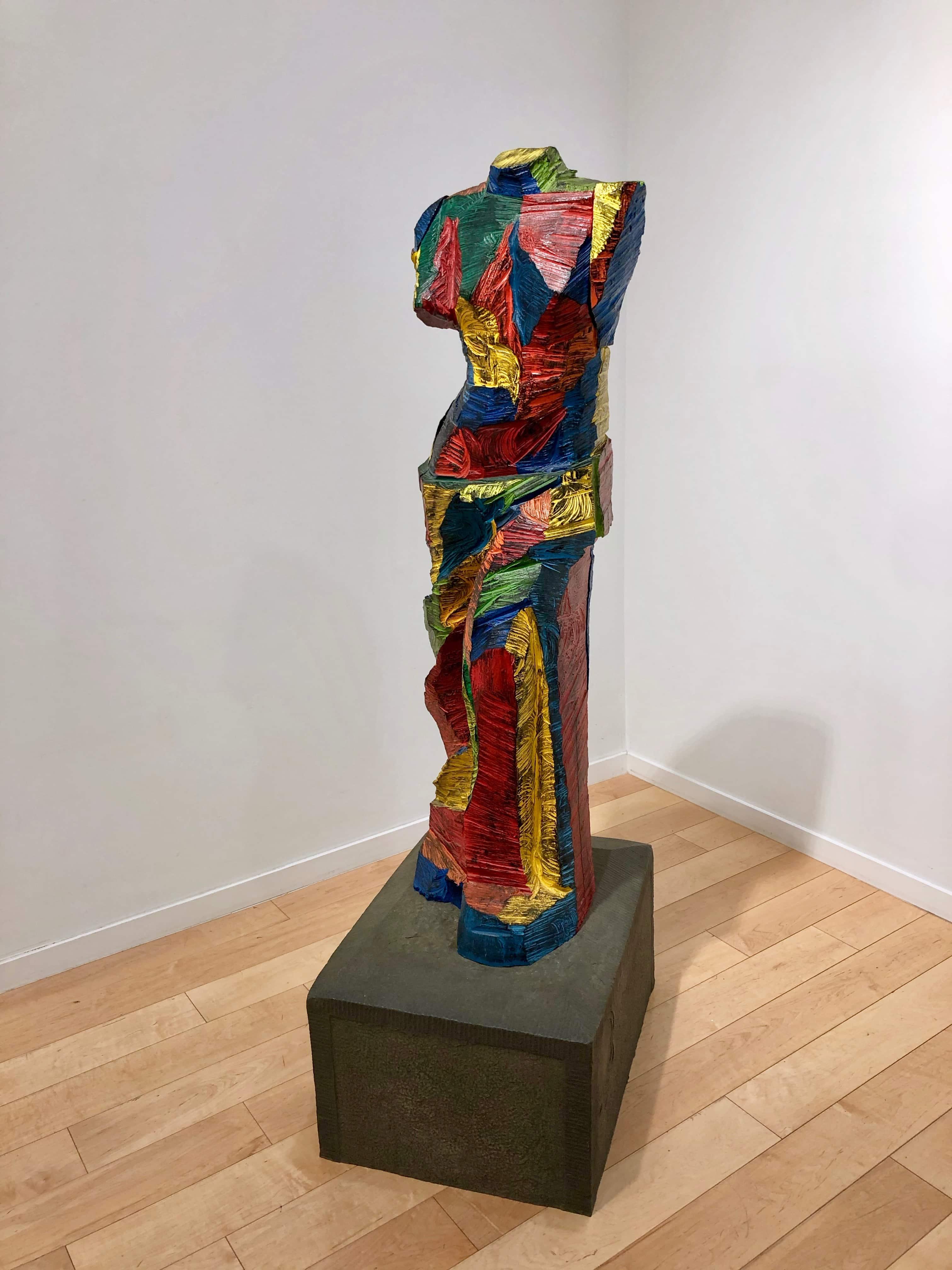 Colorful Jim Dine Venus Sculpture in Bronze