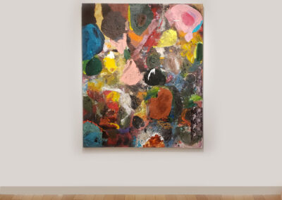 Colorful abstract painting by Jim Dine