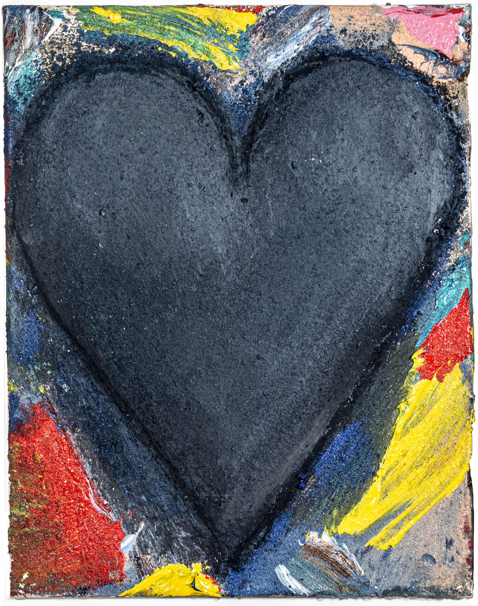 heart painting by Jim Dine entitled Big Wave