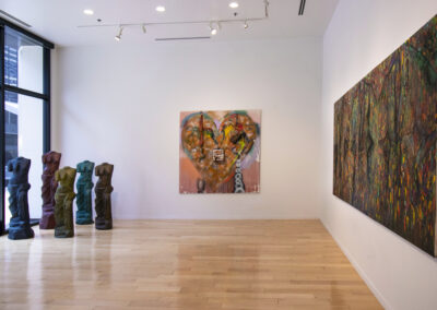 View of the main gallery with Jim Dine paintings installed