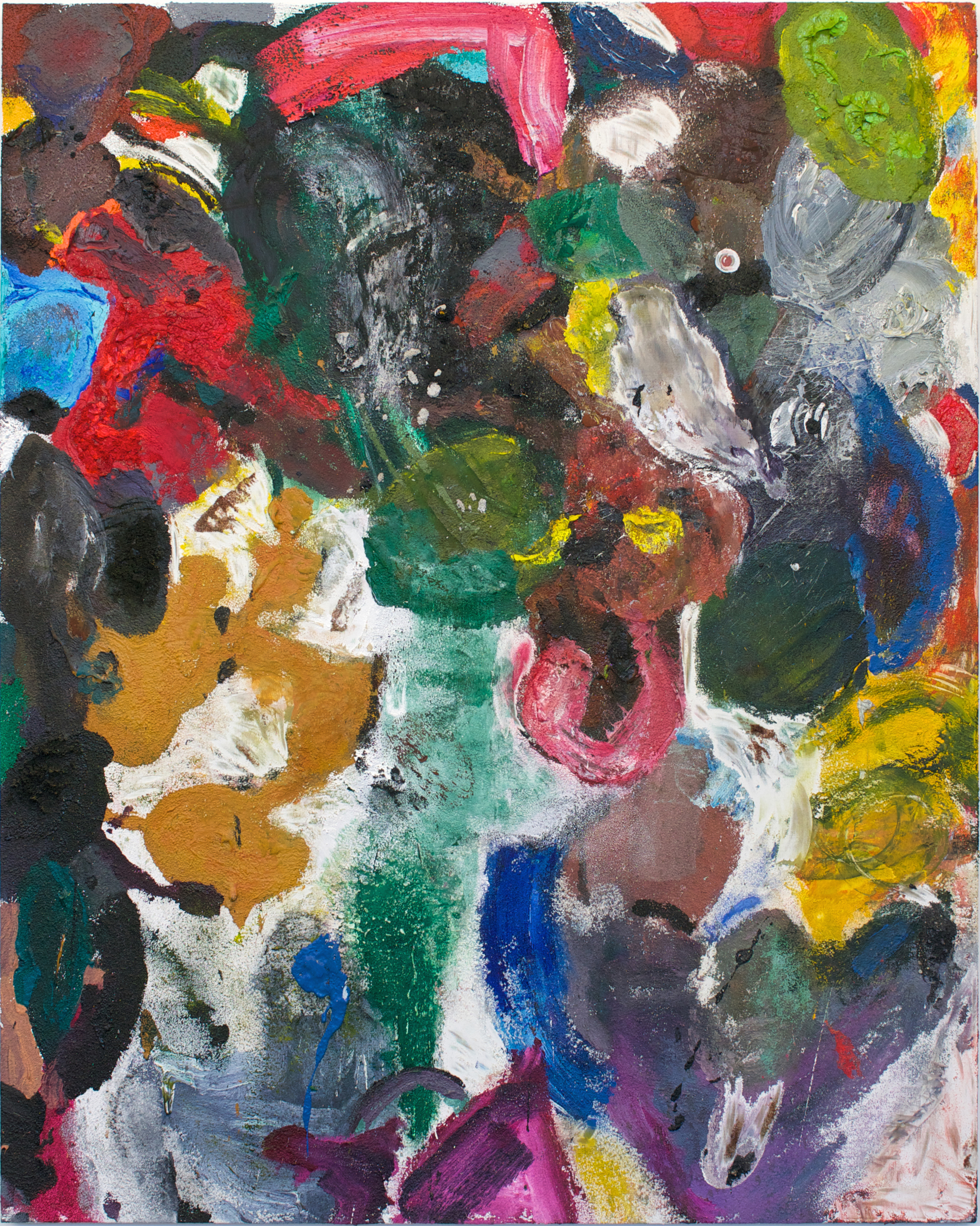 Jim Dine multi-colored abstract painting