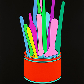 thumbnail of Michael Craig Martin can with paintbrushes