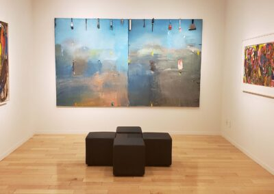 Installation shot of 3 paintings from Essential Jim Dine exhibition