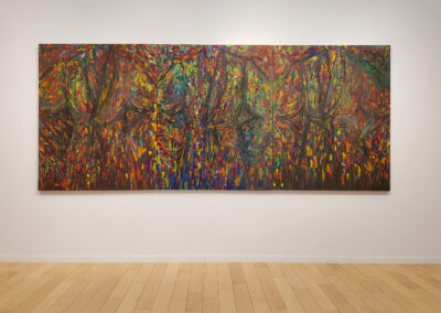 Installation view of triptych with three abstract robes by Jim Dine