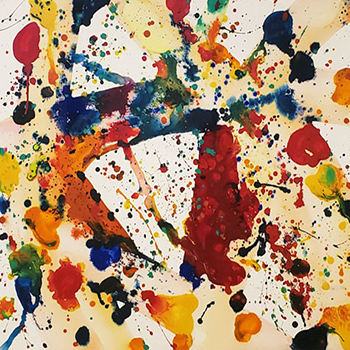 Sam Francis Yellow Beam Painting on Paper Thumbnail
