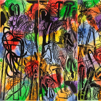 Multicolored Jim Dine Print Abstraction Thumbnail Image