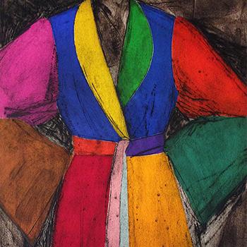 Colorful Jim Dine Robe Print Very Picante