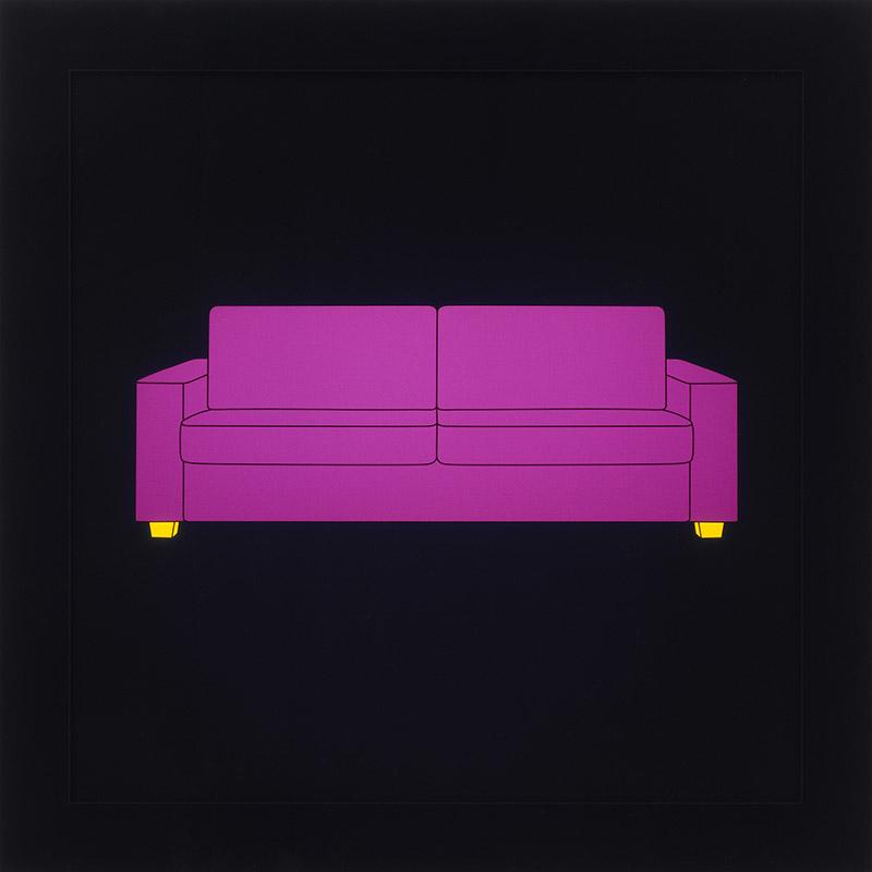 Image of Purple Sofa on LED Lightbox by Michael Craig-Martin