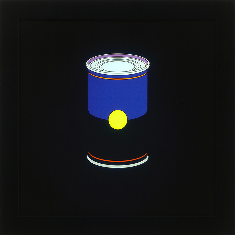 Image of Blue Soup Can on LED Lightbox by Michael Craig-Martin