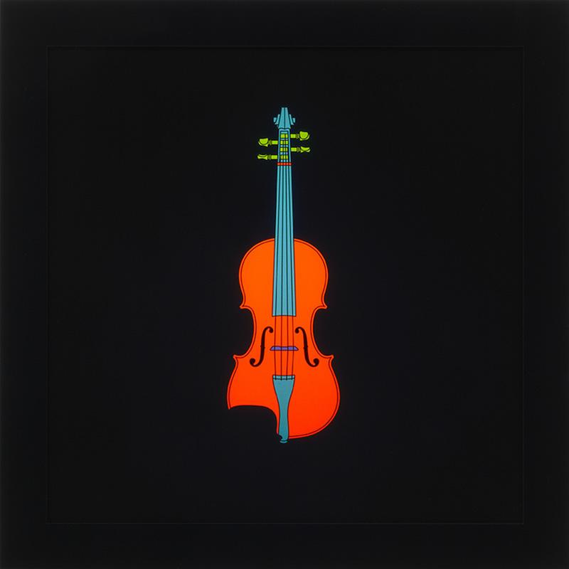 Image of Violin on LED Lightbox by Michael Craig-Martin