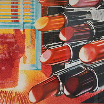 Thumbnail of James Rosenquist Print with Various Lipsticks