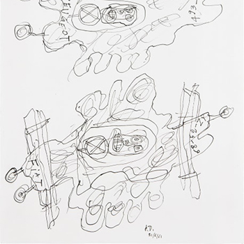 Jean Dubuffet Thumbnail Two Automobiles