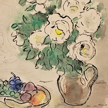 thumbnail of Marc Chagall painting of roses