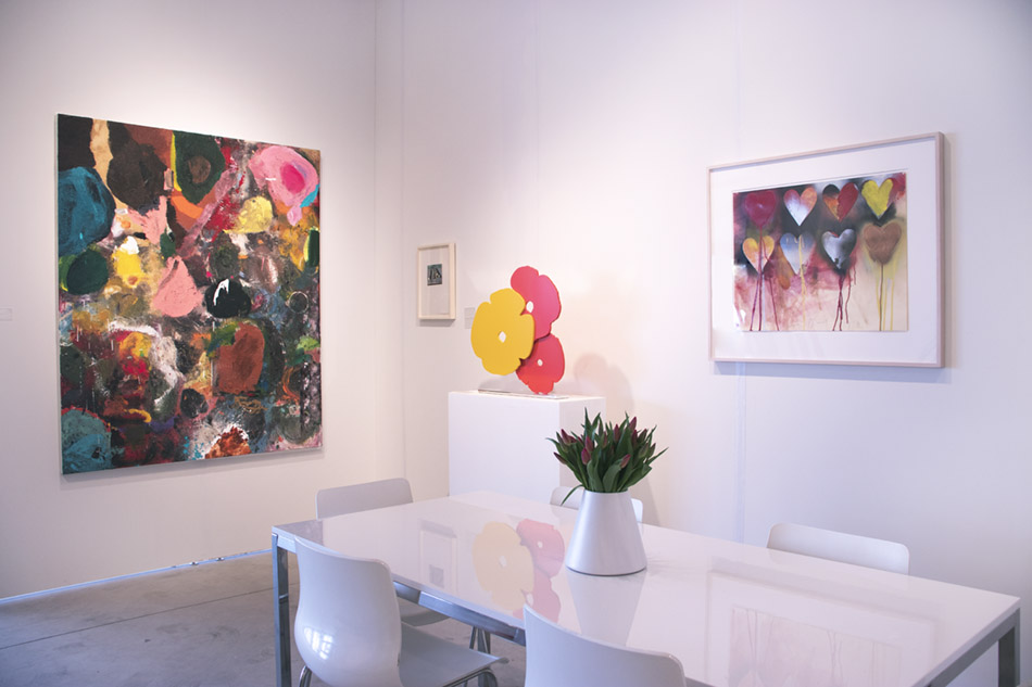 Art Miami booth photo 2018 with Jim Dine works